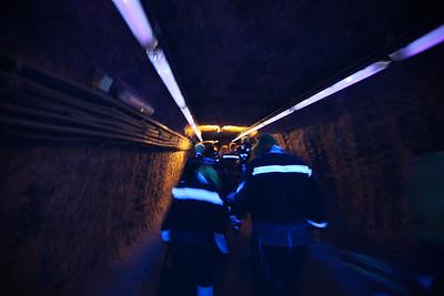 Inside the salt mine of Salzburg.