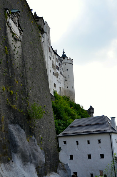 See how tall these walls are....the fortress kept Salzburg from ever being attacked.  It was too terrifying!