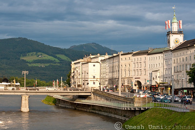 Salzburg across the river