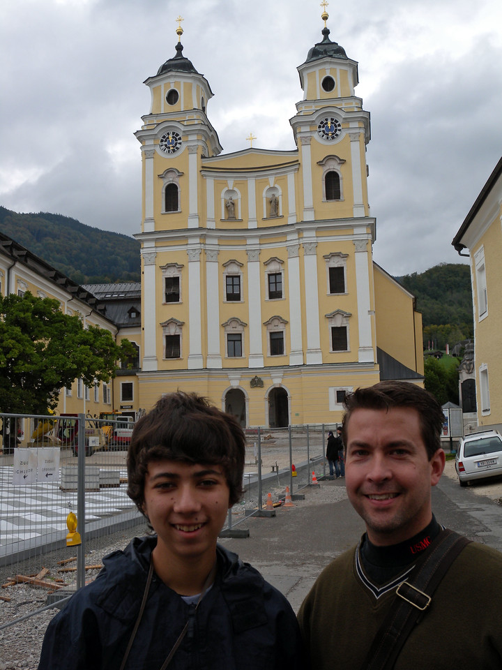 Mondsee's cathedral is famous because this is where they filmed the wedding scene in the Sound of Music. (See inside photo at the end)