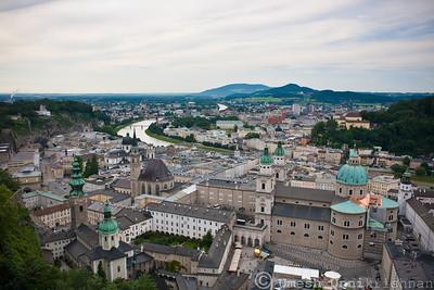 Salzburg from the Hohensalzburg
