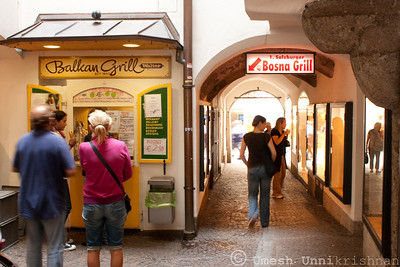 Bosna Grill under the Getreidegasse
