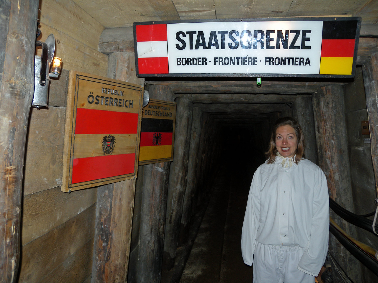 We crossed into Germany hundreds of feet below ground.