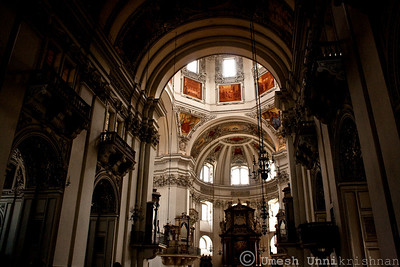 Inside the Salzburg Cathedral