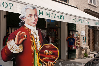 Mozart is everywhere in Salzburg