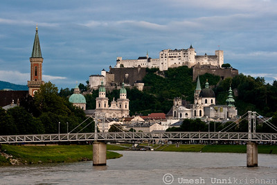 Hohensalzburg across the bridge