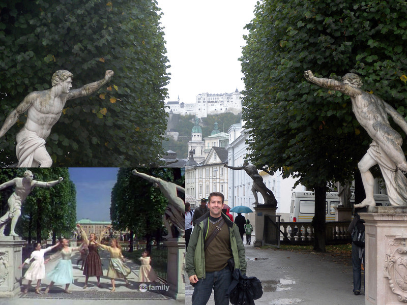 Mirabell Gardens - We messed this shot up a bit. The scene was actually facing the other side of the entrance. Sorry Bella!