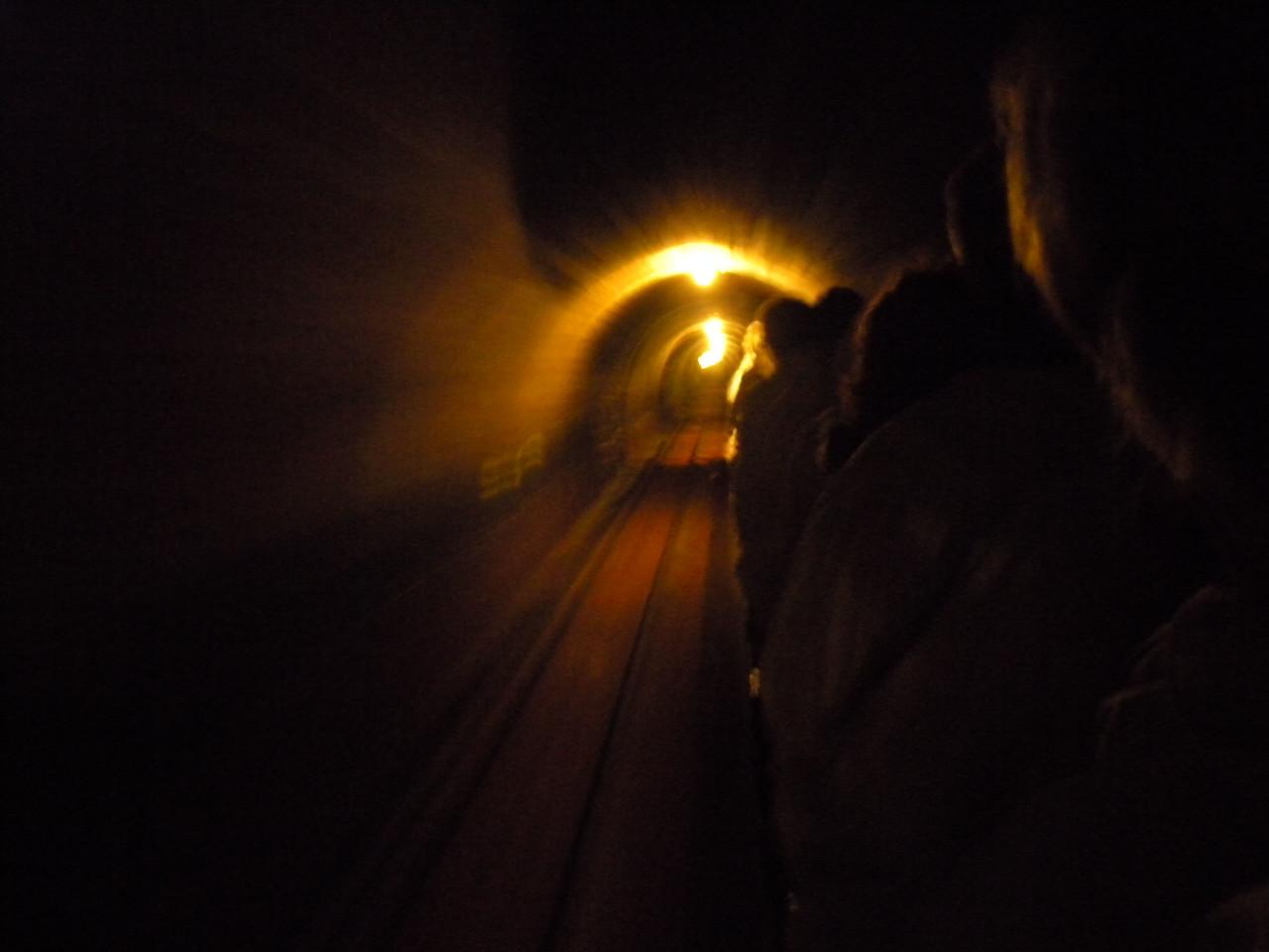 Salt mine cart ride.