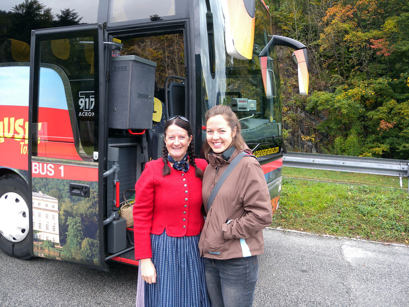 These next photos are for my niece Isabella. She loves the Sound of Music and we took a 'Sound of Music' tour of the area. This was our tour guide who would often break into song singing various Sound of Music songs! So hope you like it Bella!