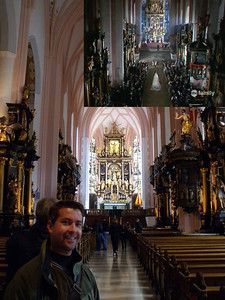 Mondsee Cathedral - Wedding scene - we gave up trying to re-enact this shot. The people in the church weren't very cooperative.