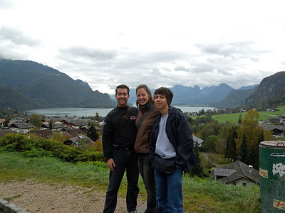 Mondsee - the lake behind us is shaped like the moon hence the name (Mondsee = Moon lake). Sorry you can't see the lake very well... if I had a nickel for every picture that I had someone take of us blocking the very thing we wanted to get...