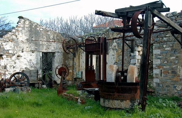 Abandoned olive press, Paleokastro, Samos, Greece, 26 December 2008