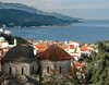 Looking north west over the church of Agios Ioannis (Saint John), Old Vathy, Samos, Greece, 26 December 2008