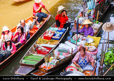 Thailand - Bangkok - Floating Market Dumnoen Saduak - Damnern Saduak - Canal dug in the reign of King Rama IV to connect the Taachin River and Maeklong River -