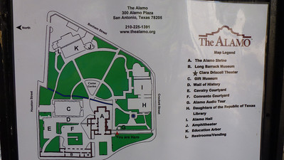 The map of The Alamo