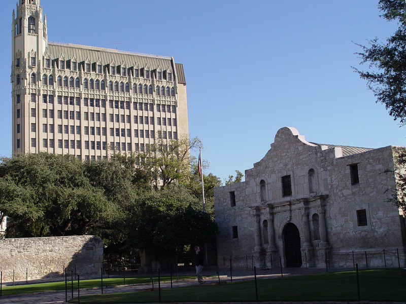 Downtown San Antonio.  The Alamo