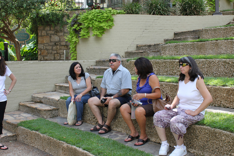 Jo-Ann, Dennis, Tish & Jen rest along the Riverwalk