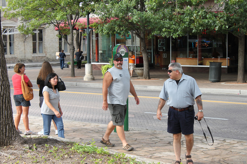 Jo-Ann, Mike and Dennis arrive at the Alamo
