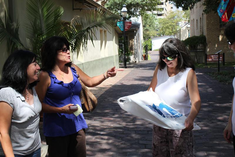 Jo-Ann & Tish watch Jen open her gift