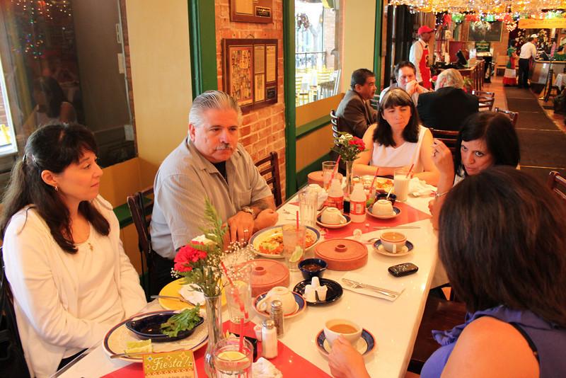 Demetria, Dennis, Jen, & Jo-Ann at breakfast