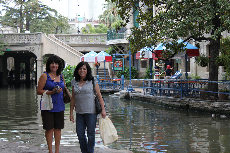 Tish & Jo-Ann by the San Antonio Riverwalk