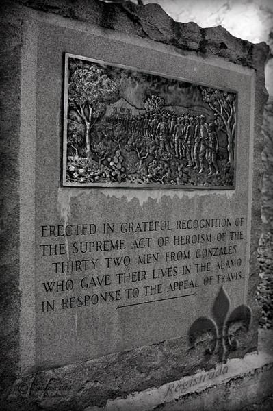 Gonzales memorial plaque