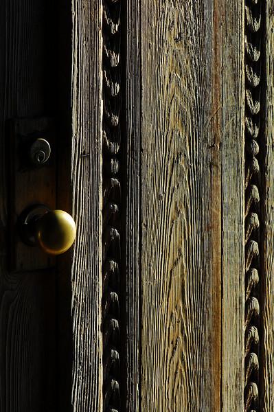 The door of San Juan Capistrano.  Showing off my new 105 macro lens