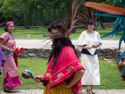 Native American dancers, Mission Espada, San Antonio, TX
