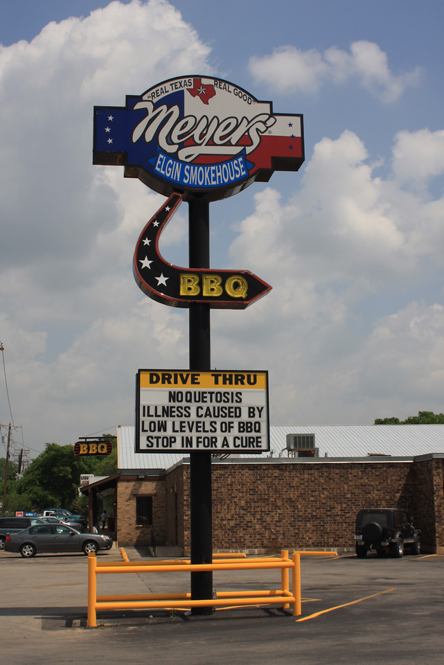 Small detour east of Austin in a town called Elgin.  Great Texas BBQ!