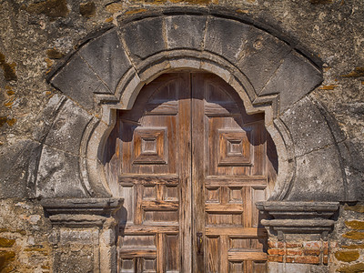 Design: center. Doorway, Mission Espada, San Antonio, TX