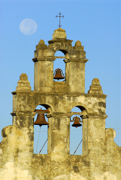The bells of San Juan Capistrano.  Note the moon up there to the left.