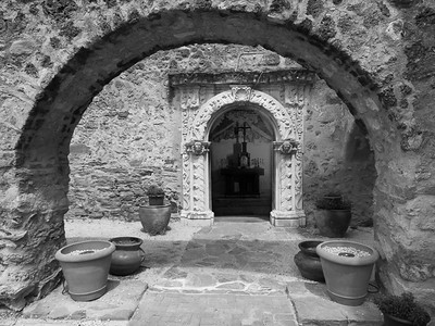 Arch and doorway, Mission San José, San Antonio, TX