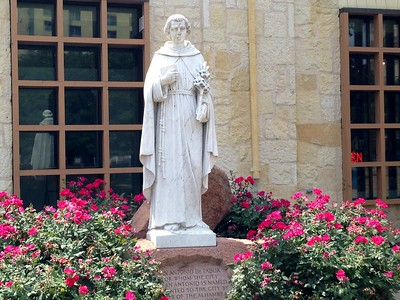 Statue of San Antonio de Padua- saint of the city, San Antonio, TX