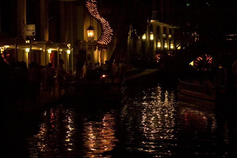 San Antonio River Walk at night