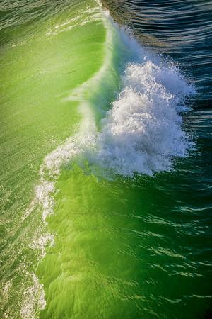 Crashing Green Wave
