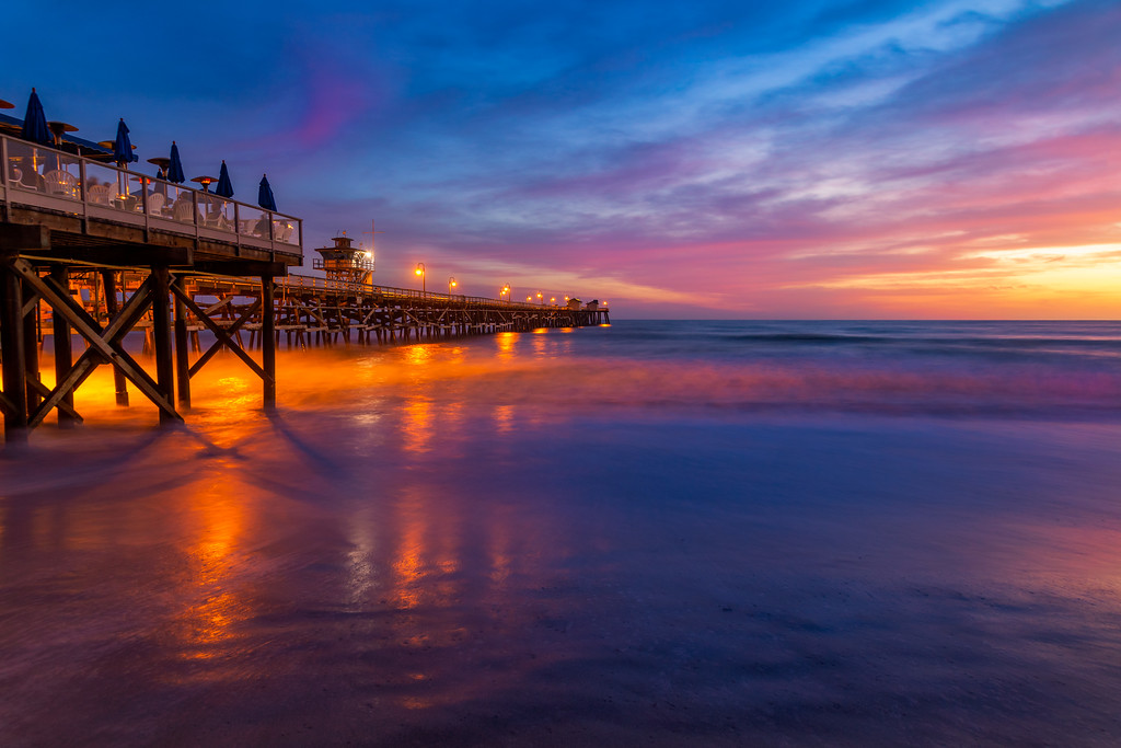 San Clemente pier and great sunset!