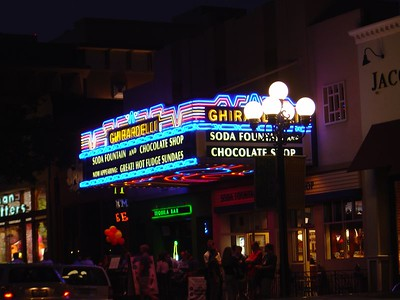 Ghirardelli's at night