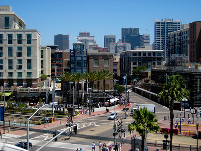 View of the Gaslamp Quarter from the Convention Center