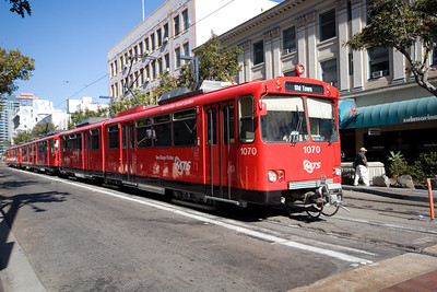 San Diego Trolley on C Street