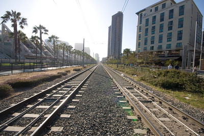 Trolley Tracks along West Harbor Drive
