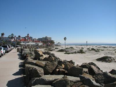 Coronado Beach, looking south toward the Hotel Del Coronado.