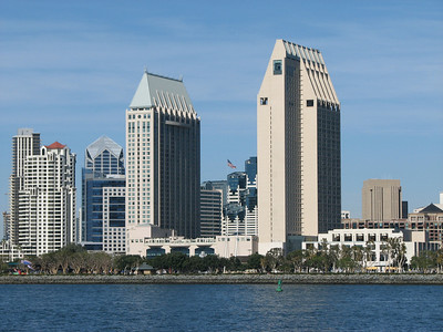 The Manchester Hyatt, in San Diego.  I stayed in the left hand tower in this picture, 27th floor.