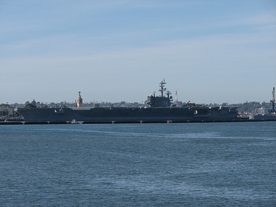 USS Ronald Reagan pier side at North Island.