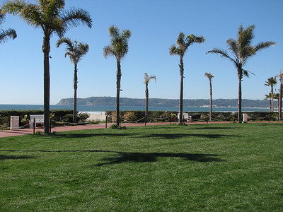 From the grounds of the Hotel Del Coronado looking toward Point Loma