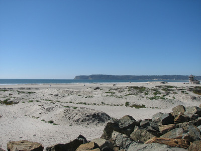 Looking out across Coronado Beach toward the tip of Point Loma.