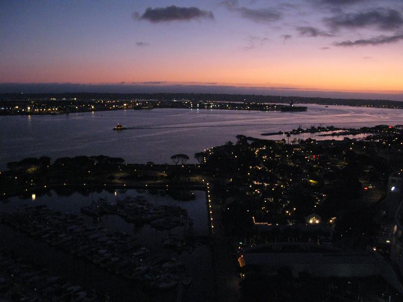 San Diego at night.   Looking across the bay toward Coronado