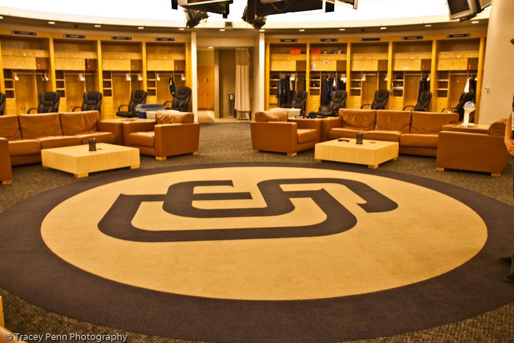 Padres locker room