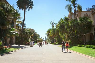 Looking West Along El Prado