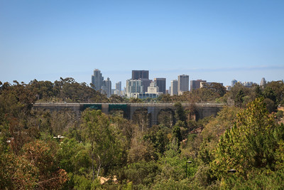El Prado Bridge and Downtown Skyline