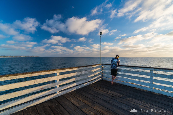 Fisherman on Crystal Pier